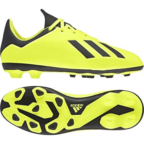 Adidas Fussballschuhe X 18.4 FxG Kinder gelb/schwarz