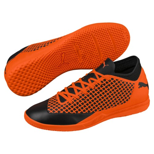Puma Hallen-Fussballschuhe Future 2.4 IT Jr. Kinder orange/schwarz
