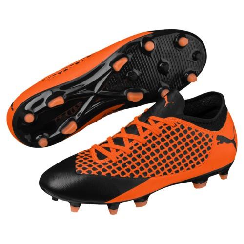 Puma Fussballschuhe Future 2.4 FG/AG Jr Kinder orange/schwarz