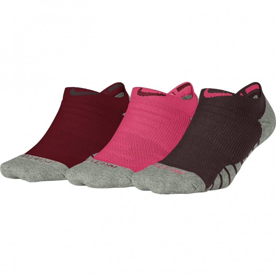 Nike Dry Cushion No Show Training Sock Women 3 Pair red/pink/bordeaux