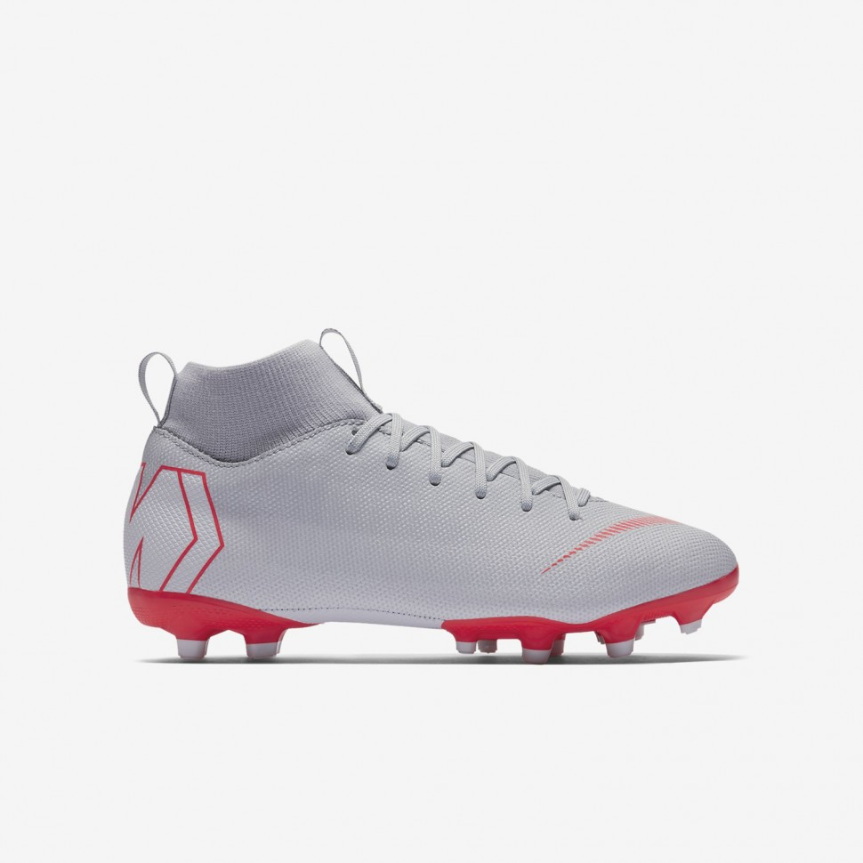 Nike soccer shoes Superfly VI Academy MG Kids silver/red