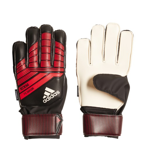 Adidas Goalkeeper Gloves Predator Fingersave Kids black/red
