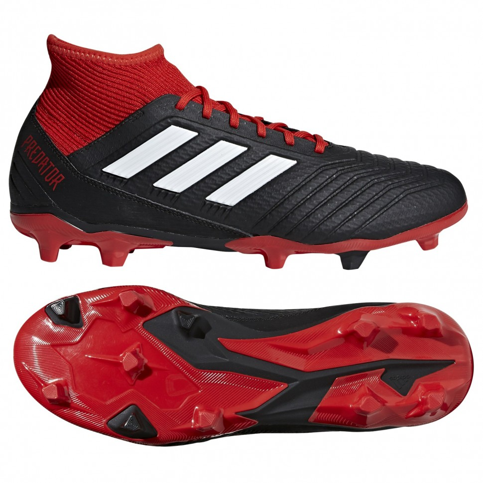 Fg Fussballschuhe 3 18 Predator Rotschwarz Adidas sQtCdrxh