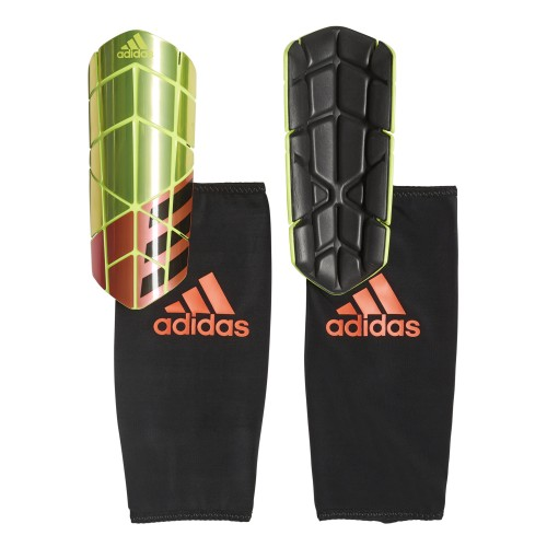 Adidas Shin Guard X PRO yellow metallic/red