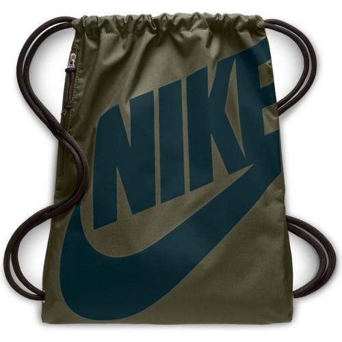Nike Turnbeutel Heritage oliv/blau