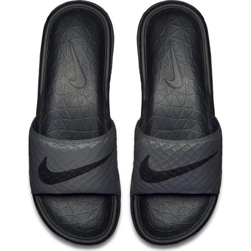 Nike Badeschuhe Benassi Solarsoft Slide 2 schwarz/grau