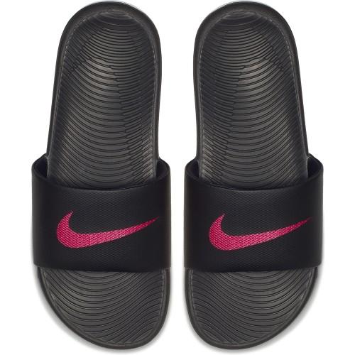 Nike Badeschuhe Kawa Slide Damen schwarz/pink