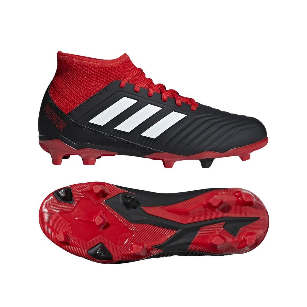 31bf7b25c0ac71 Adidas Fussballschuhe Predator 18.3 FG J Kinder rot schwarz