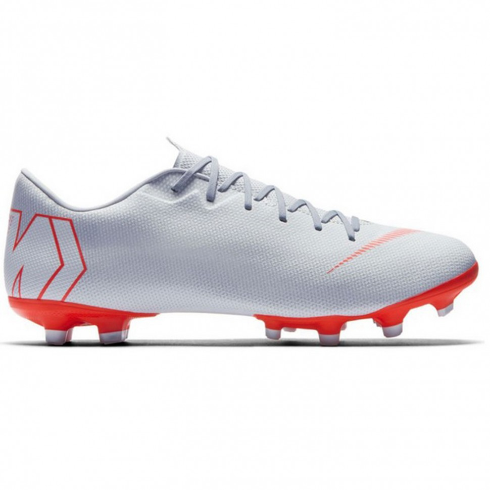 Nike soccer shoes Vapor XII Academy MG silver/red
