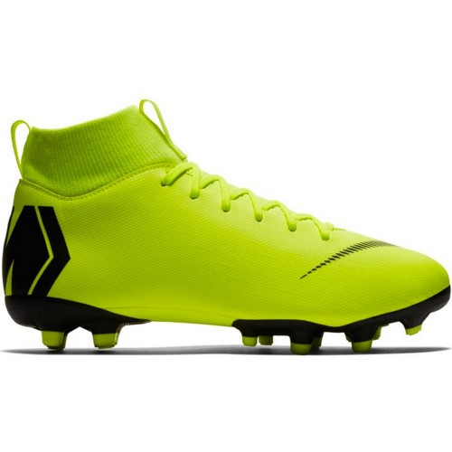 Nike soccer shoes Superfly VI Academy MG Kids neonyellow