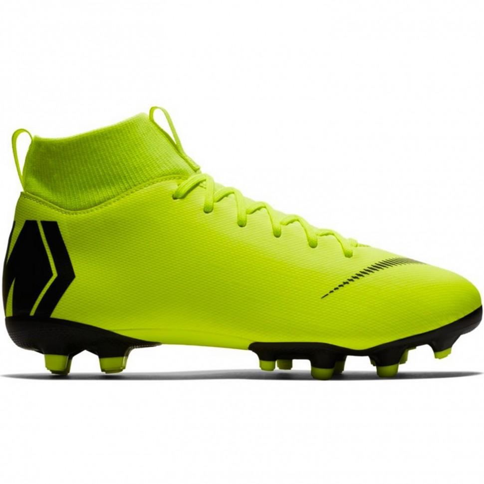 Nike soccer shoes Superfly VI Academy MG Kids neonyellow