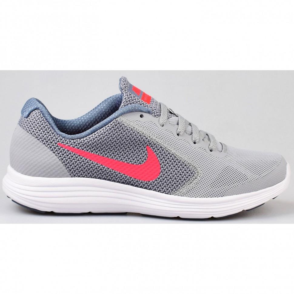 Nike Freizeitschuhe Revolution 3 (GS) Kinder grau/weiß